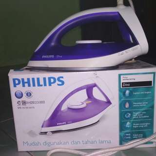 Setrika Pakaian Philips Diva Free Ongkir