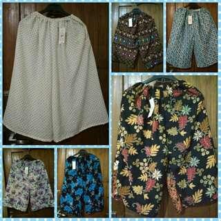 Celana Kulot Harian Dewasa / Celana Pendek Wanita Santai
