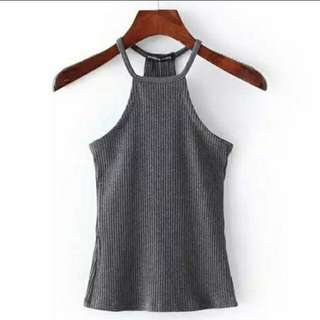 Knitted tank top in stock.