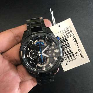 Brand New Casio Edifice EFR-540BK Black Blue Steel Watch FREE DELIVERY 100% Authentic
