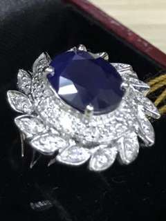 Blue Sapphire Ring with Certificate