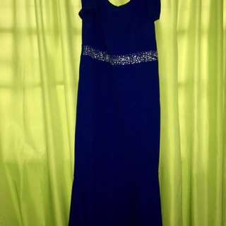 Royal Blue Long Gown/Dress