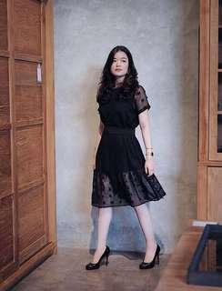 Black dress - pregnant friendly