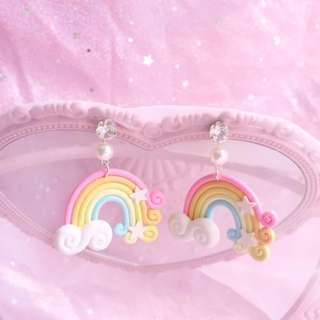Candy rainbow earring