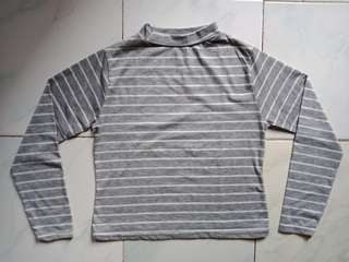 Turtleneck stripes grey