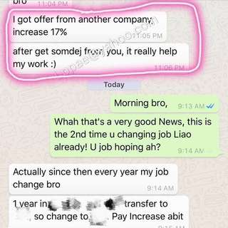 """(No PM) CNY Superb Powerful Feedback From Friend wearing Good Luck Somdej> New Job with Salary Increment, job is recommended by """"贵人"""" 👍"""