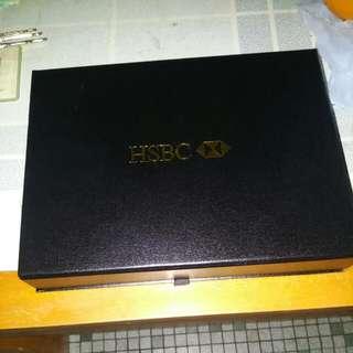HSBC 匯豐銀行 鍍金 1000 紙連盒