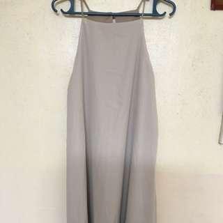 Cream dress halter top design
