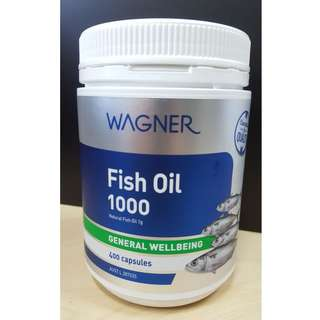 Wagner Omega-3 Fish Oil 1000mg 400 Capsules