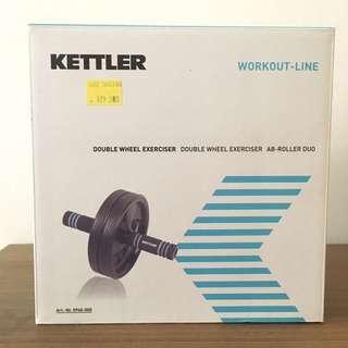 Kettler double wheel exerciser ab roller duo six pack