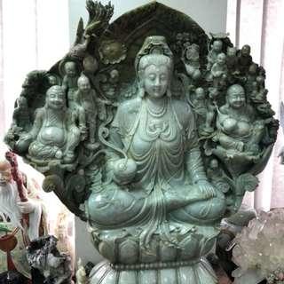 Full Jade Guanyin Buddha