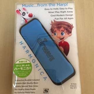 Suzuki kids 10 hole harmonica blue