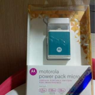 Motorola power pack micro 1500mAh