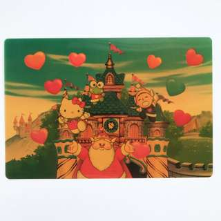 Sanrio Puroland postcard by hallmark