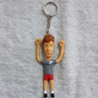 Beavis & Butthead Bendable Figure Keychain