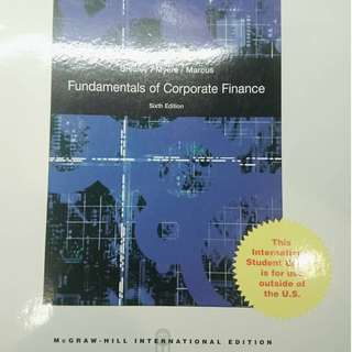 Fundamentals of Corporate Finance, 6th Edition 財務管理原文 (第六版)