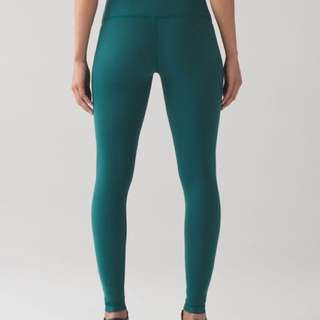 MINT Lululemon leggings turquoise