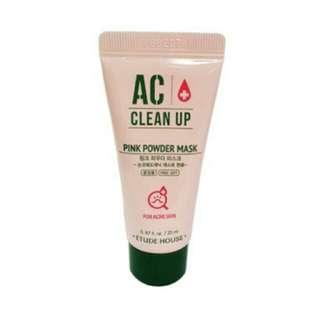 [mini] Etude House AC Clean Up Pink Powder Mask
