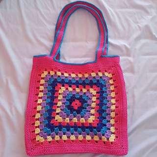 Crochet beach Shoulder Bag