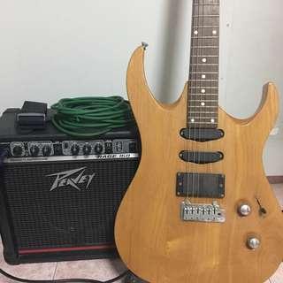 Peavy amp + Guitar