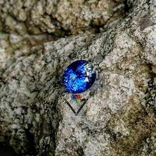 Natural Cornflower Blue Sapphire