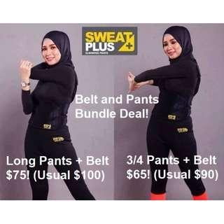 🎀Special Deal 🎀! SWEAT PLUS+ SUPER NEO - LONG PANTS + BELTS SPECIAL BUNDLE DEAL