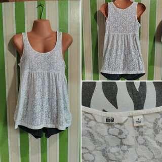Uniqlo white sleeveless top