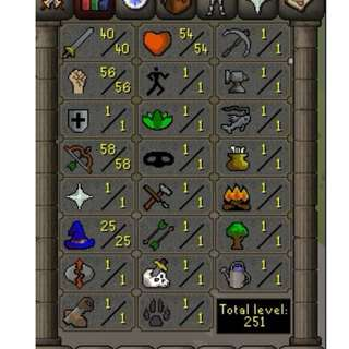 OSRS pure pking account