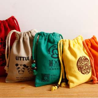 Customised Burlap Colored Bags (For Parties, Weddings, Events, etc)