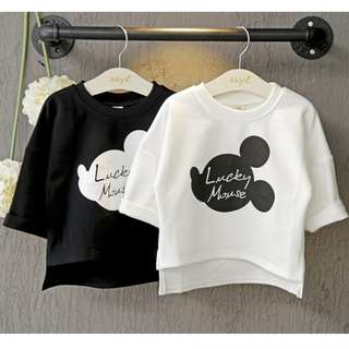 BMT378 - Lucky Mickey Oversize 3/4 Sleeve Top *Cotton*