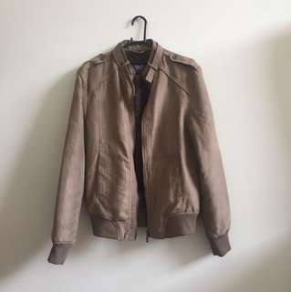 Zara Suede Jacket Light Brown Size S