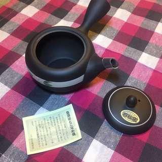 日本入口-常滑燒- 春秋燻茶壺