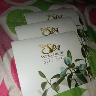 THE SPA GIFT CERT