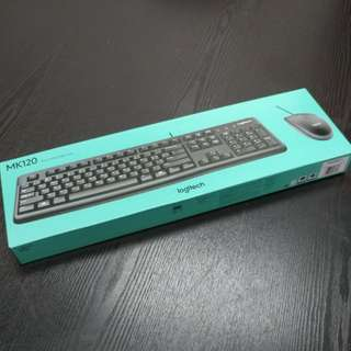 Logitech keyboard and mouse set MK120