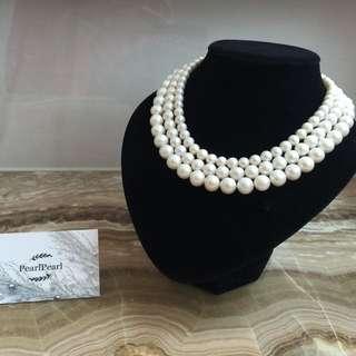 [天然珍珠]Pearl Pearl珍珠頸鏈 不同size不同長度可供選擇 $288起