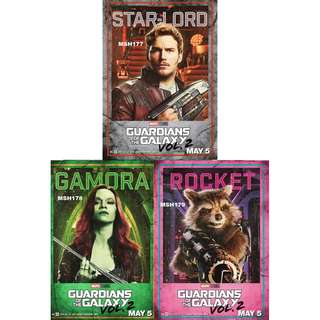 GUARDIANS OF THE GALAXY VOL. 2 MOVIE POSTERS (PART 1)