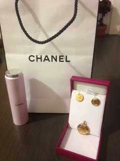 Chanel earrings and Pendant!!!!!! Never use de cluttering our things needed money for important matter! 280$ for both! Or nearest offer can buy separately but would be 150$ for earrings and150$ for pendant your call 😊