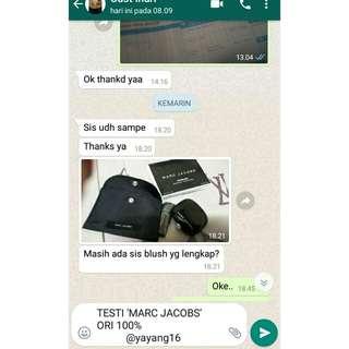 BUKTI MARC JACOBS AUTH 100%
