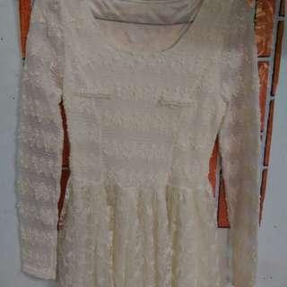 Mini dress broken white