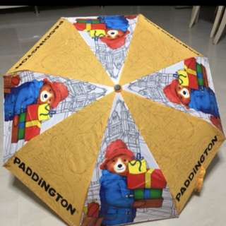 Paddington bear foldable umbrella with recycled bag