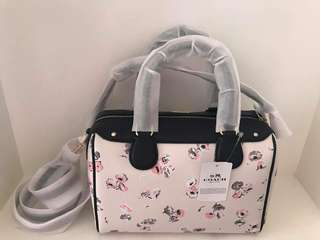 Coach mini bennet satchel with small wildflower print
