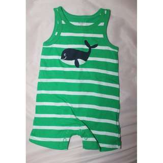 Carter's Baby Romper Green Stripes