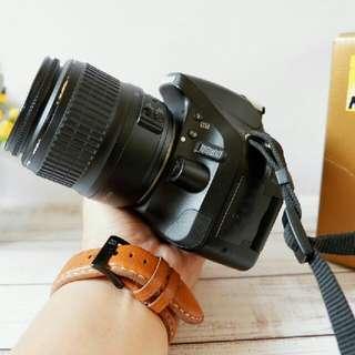 Nikon D5200 + Lensa Kit 18-55mm Fullset Murah