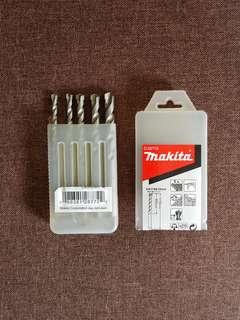 New Makita Carbide Tip 5 Pieces (5/6/7/8 & 10mm) Masonry Drill Bit Set