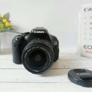 DSLR Canon 600d + Lensa Kit 18-55mm Fullset Murah