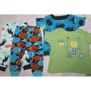Carter's/Mothercare Baby Pajama and Top (4pcs.)