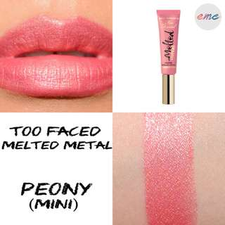 BN Too Faced Mini Melted Metal Liquid Longwear Lipstick Toofaced