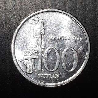 Old Coin Collection : Indonesia 100 Rupiah, (Issue Year 1999)