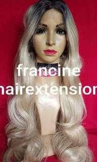 Francis Matildo lace front wig ombré platinum