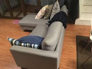 Sofa grey 200 x 80